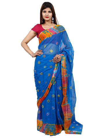 Blue Color Faraar Chiffon Saree - SAR0043