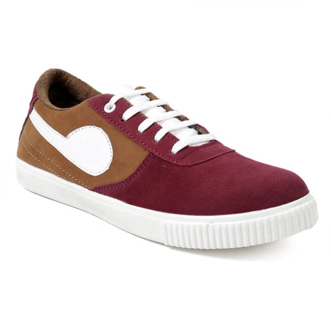 BROOKE Red Color Synthetic Men Casual Shoes - SAVARLOAN-CASUAL-REDYELLOW