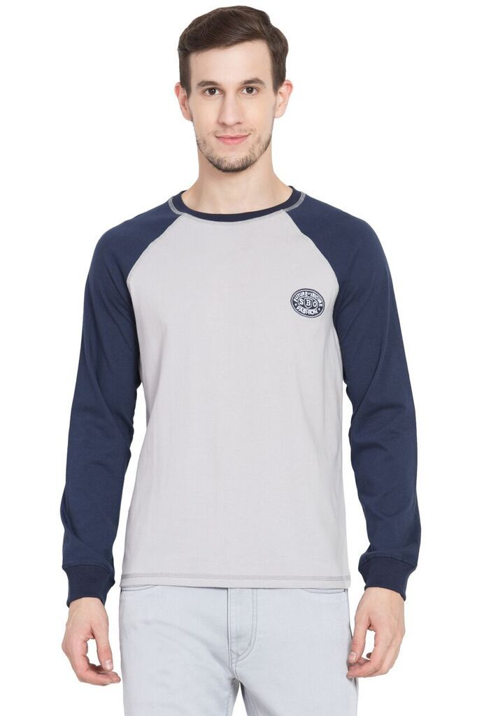 Buy Future Ventures Navy Blue Color Cotton Men's T-Shirt