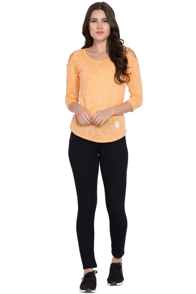 Buy Orange Color Cotton T-Shirts