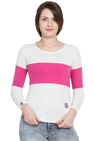 Pink Color Cotton T-Shirt  - SBOF-5249Pink