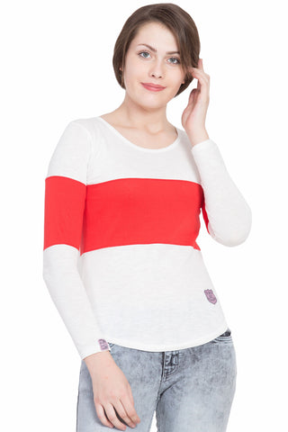 Red Color Cotton T-Shirt  - SBOF-5249Red