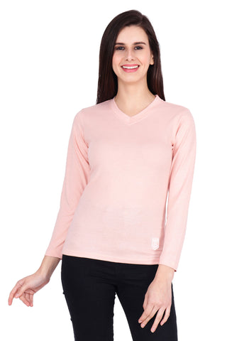 Pink Color Cotton T-Shirt  - SBOF-5252Pink