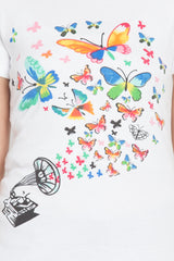 White Color Cotton T-Shirt  - SBOF-5256White