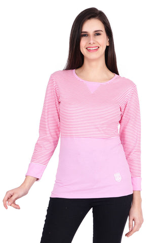 Pink Color Cotton T-Shirt  - SBOF-5259Pink
