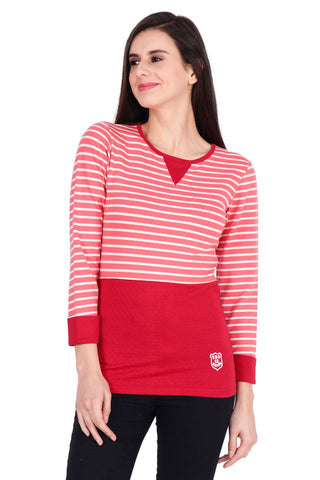 Red Color Cotton T-Shirt  - SBOF-5259Red