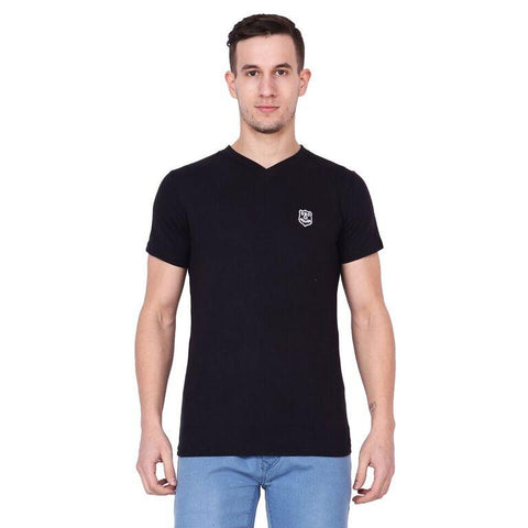 Future Ventures Black Color Cotton Men's T-Shirt  - SBOF-5261Black