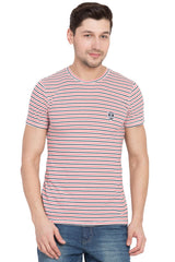 Red Color Cotton Men's T-Shirt  - SBOF-5264Red