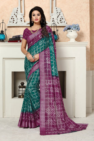 Magenta Color Cotton Saree - SBSGAMRAMA