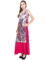 Pink Color Crepe and Georgette ReadyMade Dress  - SC-DRESS-1717