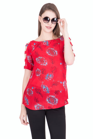 OffWhite Color Crikle Cotton ReadyMade  Top - SC-TP-47