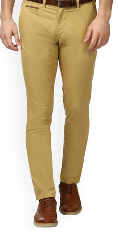 Beige Color Heavy Dobby Men's Plain Trouser - SD6