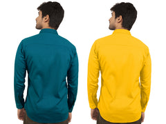 Combo Shirts Sea Green and Yellow - 1ABF-SG-YW