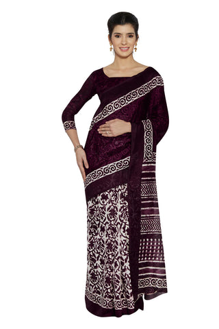 Purple Color Bhagalpuri Saree - SF-3105