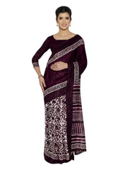 Purple Color Bhagalpuri Saree