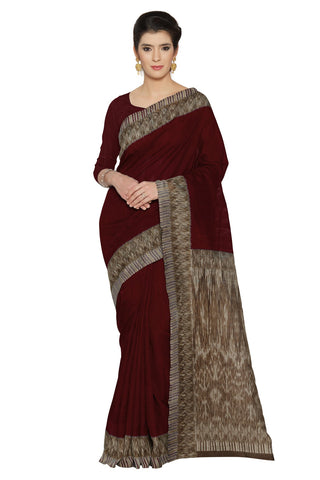 Maroon Color Bhagalpuri Saree - SF-3108