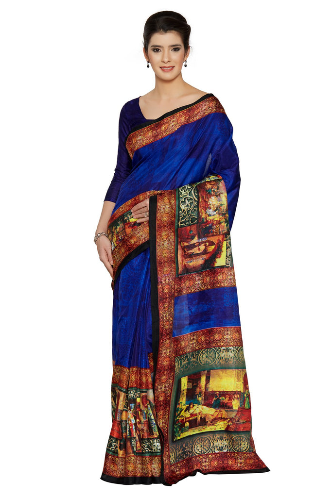 Blue Color Bhagalpuri Saree