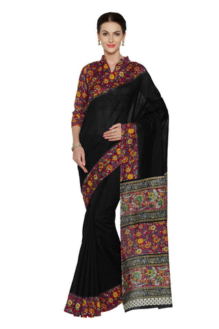 Black Color Bhagalpuri Saree - SF-3154