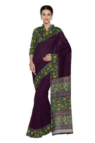 Purple Color Bhagalpuri Saree - SF-3155