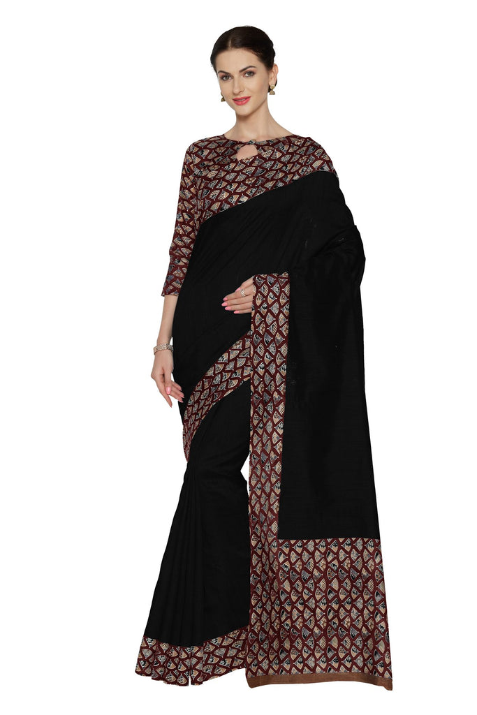 Black Color Bhagalpuri Saree