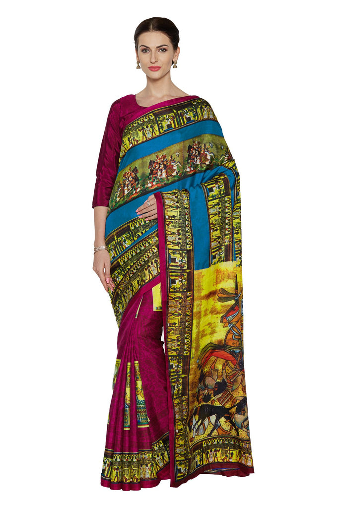 Magenta Color Art Silk Saree