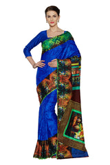 Blue Color Art Silk Saree
