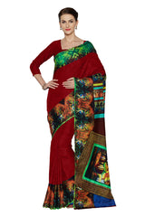 Red Color Art Silk Saree