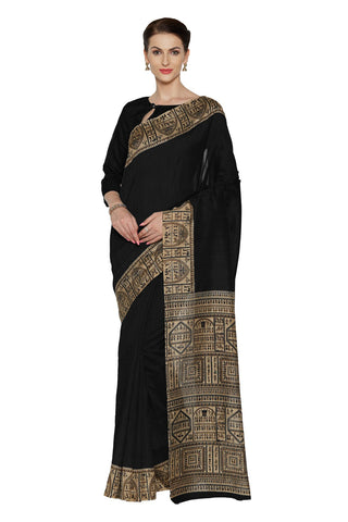 Black Color Bhagalpuri Saree - SF-3171