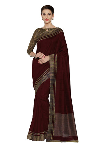 Maroon Color Bhagalpuri Saree - SF-3173