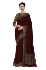 Maroon Color Bhagalpuri Saree