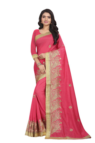 Gajri Color Vichitra Silk Saree - SF-D.NO.-10