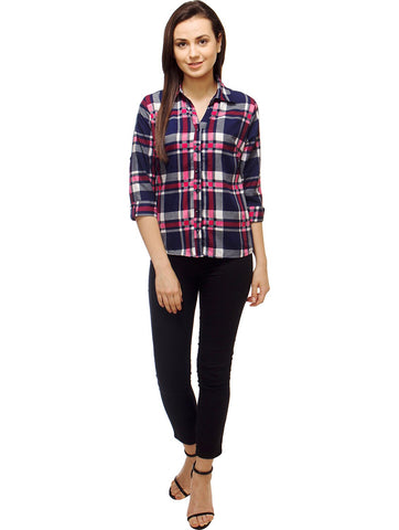 Multi Color Polyster Women Shirt - SFSHRT528