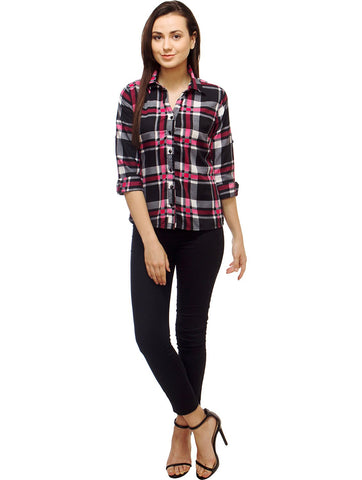 Multi Color Polyster Women Shirt - SFSHRT530