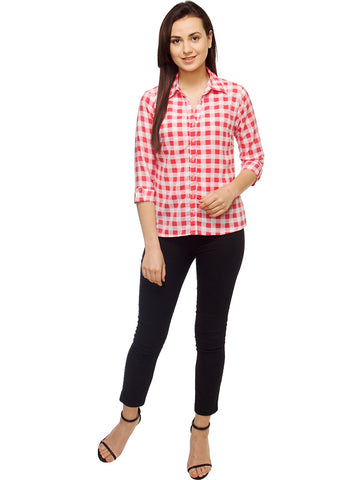 Multi Color Polyster Women Shirt - SFSHRT532