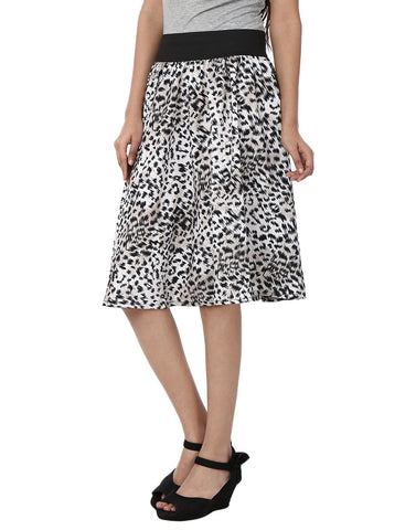 White Color Polyster Ready Made Skirt - SFSK603A