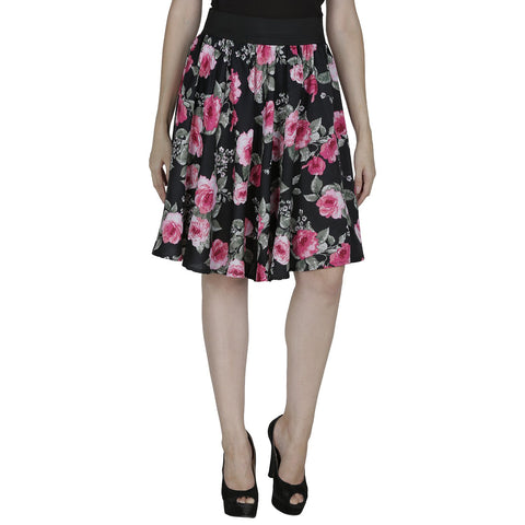 Black Color Polyster Ready Made Skirt - SFSK606A