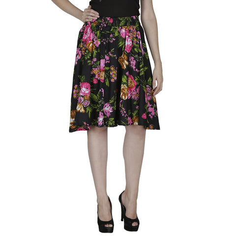 Multi Color Polyster Ready Made Skirt - SFSK608A