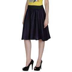 Dark Blue Color Polyster Ready Made Skirt - SFSK610A