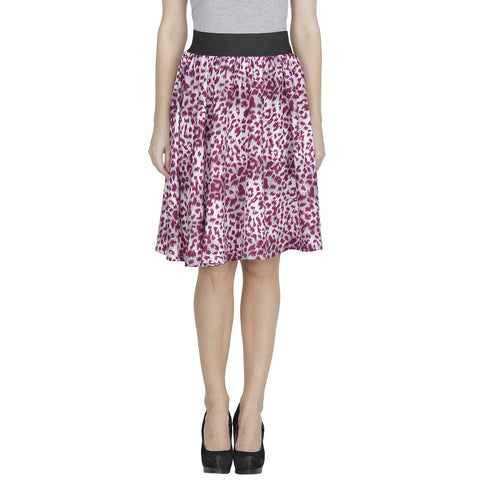 Purple Color Polyster Ready Made Skirt - SFSK652A