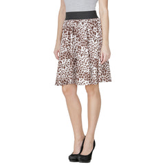 Brown Color Polyster Ready Made Skirt - SFSK653A