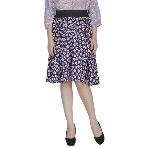 Multi Color Polyster Ready Made Skirt - SFSK654A