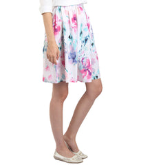 Multi Color Polyster Ready Made Skirt - SFSK656