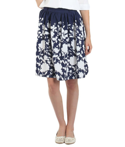 Navy Blue Color Polyster Ready Made Skirt - SFSK657