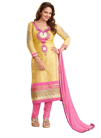 Beige Color Cotton Un Stitched Salwar - SFST-KED01