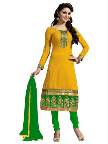 Yellow Color Chanderi Salwar - SFST-KFM107