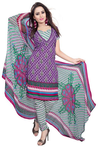 Purple Color Crepe Un Stitched Salwar - SFST-KMIXKPPLK10005