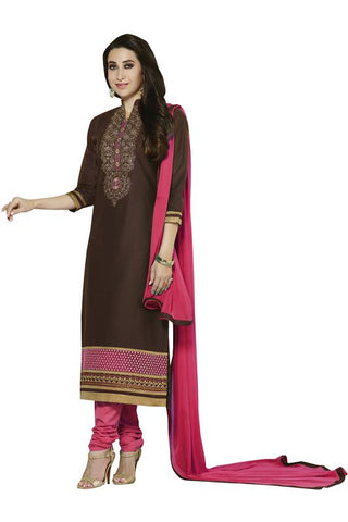 Brown Color Cotton Un Stitched Salwar - SFST-KMIXKRSH4354