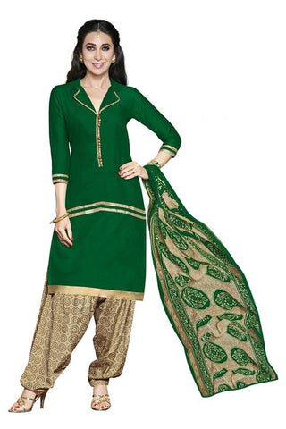 Green Color Crepe Un Stitched Salwar - SFST-KMIXRPSN99008
