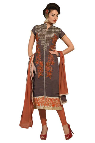 Brown Color Cotton Un Stitched Salwar - SFST-KMIXSSBLFR1007