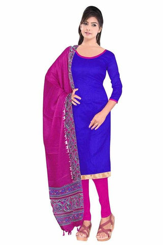 Blue Color ArtSilk Un Stitched Salwar - SFST-KMIXSSZVR1004
